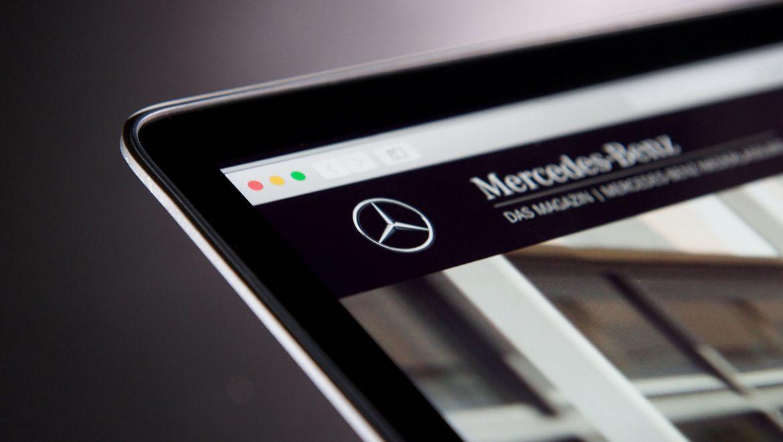 Mercedes-Benz Niederlassungsmagazin Close Up Logotype